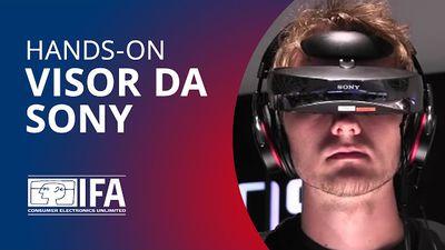 """Visor da Sony dá sensação de assistir vídeos em uma tela de 750"""" [Hands-on   IFA"""
