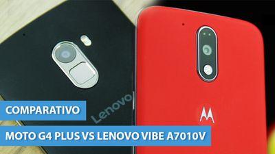 Moto G4 Plus vs Lenovo Vibe A7010: a batalha dos sensores de digital