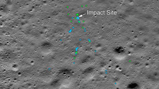 NASA encontra destroços de nave indiana que se chocou contra a Lua