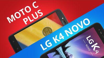 Motorola Moto C Plus vs LG K4 Novo [Comparativo]