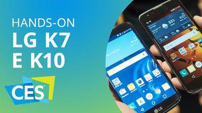 K7 e K10: os novos smartphones intermediários da LG [Hands-on | CES 2016]