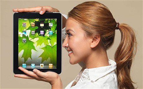 Mulher iPad