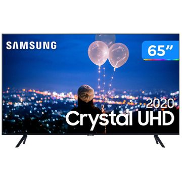 "Smart TV Crystal UHD 4K LED 65"" Samsung  65TU8000 Wi-Fi Bluetooth HDR 3 HDMI 2 USB - TV 4K Ultra HD [CUPOM DE DESCONTO]"