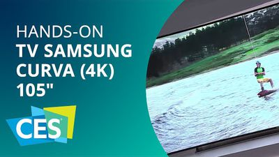 "TV SUHD (4K) flexível de 105"" da Samsung: uma gigante de responsa [Hands-on 