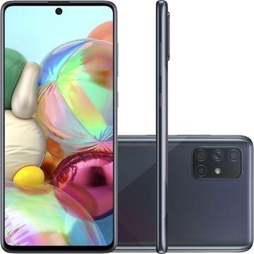 "Smartphone Samsung Galaxy A71 128GB Dual Chip Android Tela 6,7"" Octa-Core 2.2 GHz 4G Câmera Quádrupla"