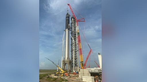 Starship e Super Heavy formam sistema de lançamentos mais alto do mundo