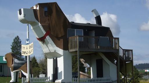 Que tal usar o Airbnb para se hospedar em uma casa no formato de um beagle?
