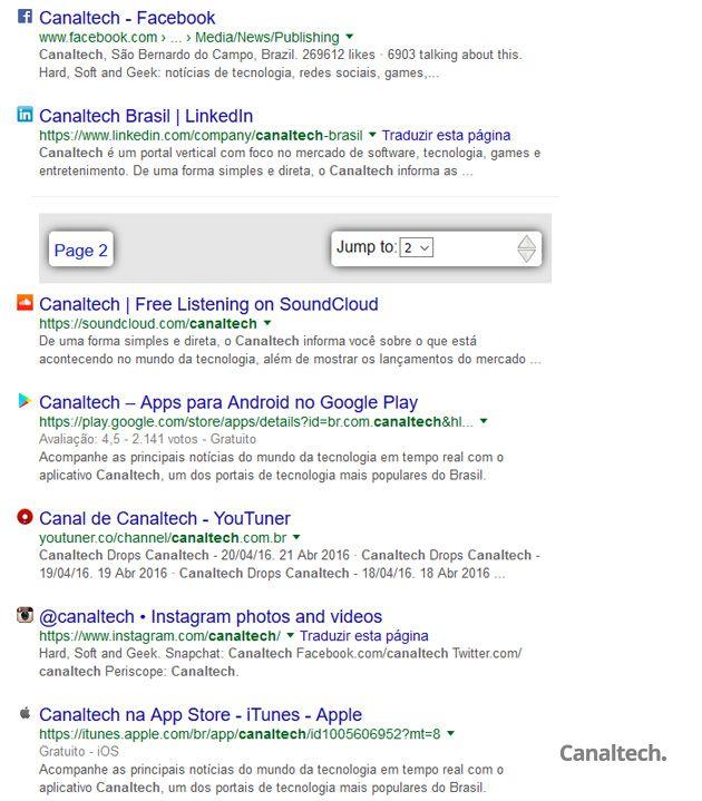 Um dos recursos mais interessantes da BetterFox é a paginação automática dos resultados de busca no Google