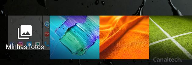 O próprio sistema traz várias opções estáticas, ou você pode usar uma imagem da sua galeria pessoal