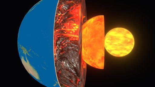 Por que o centro da Terra cresce mais de um lado do que do outro?