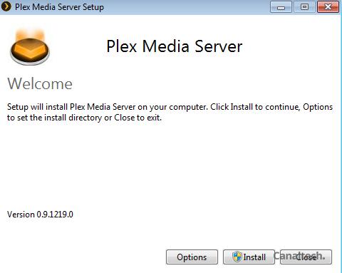 A instalação do Plex é fácil e ocorre como qualquer outro programa do Windows. Basicamente, basta clicar em