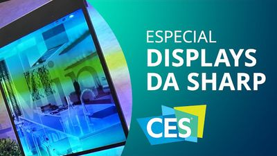 Sharp demonstra displays em formatos variados [Especial | CES 2015]