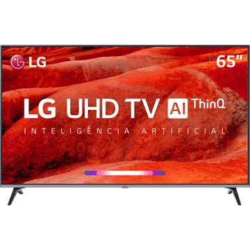 "Smart TV Led 65"" LG 65UM7520PSB Ultra HD 4K Thinq Ai Conversor Digital Integrado 4 HDMI 2 USB Wi-Fi [NO BOLETO]"