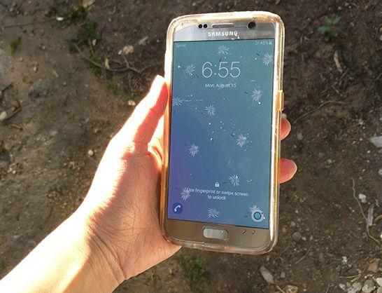 Galaxy S7 afogado