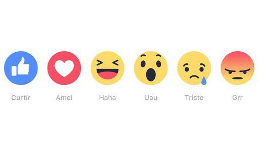 Emojis de reação do Facebook começam a ganhar popularidade