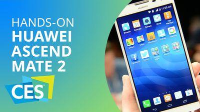 Huawei Ascend Mate 2, com super bateria para 60 horas [Hands-on | CES 2014]