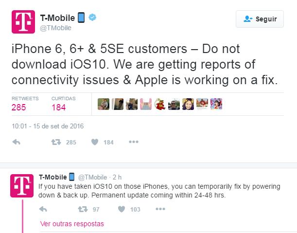T-Mobile iOS 10
