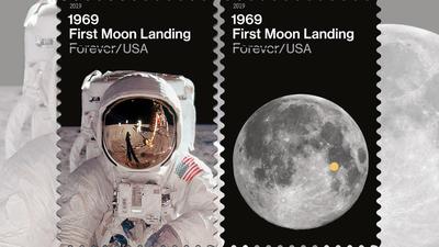 Serviço Postal dos EUA lança selos comemorando os 50 anos do pouso na Lua