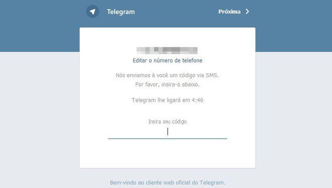 Telegram para web