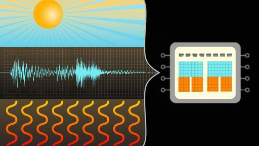 Chip pode ser alimentado por luz, calor e vibrações ao mesmo tempo