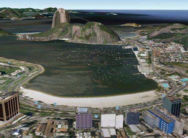 Rio de Janeiro no Google Earth