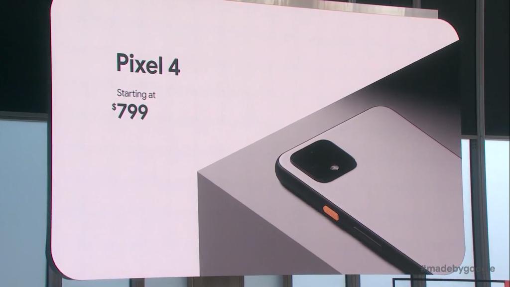 Preço inicial dos Google Pixel 4