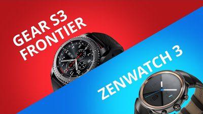 Asus Zenwatch 3 vs Samsung Gear S3 Frontier [Comparativo]