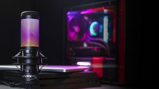HyperX anuncia versão do Quadcast com RGB personalizável