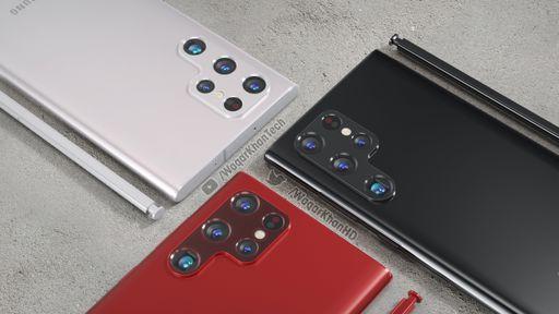 Galaxy S22 Ultra: capas vazadas reforçam design vazado anteriormente