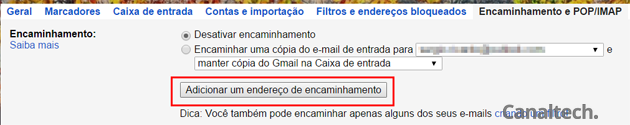 Antes de começar a encaminhar e-mails automaticamente para alguém é preciso que essa pessoa confirme que aceita receber as mensagens. Gmail tem recurso dedicado a isto