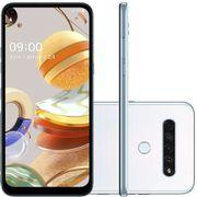 "Smartphone LG K61 Dual Chip Android 9.0 Pie 6.53"" Octa Core 128GB 4G Câmera 48M + W8M + D5M + M2M - Branco [CASHBACK]"