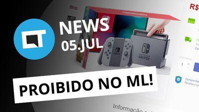 Venda do Nintendo Switch proibida no Brasil; Nasa vai bater nave espacial em ast