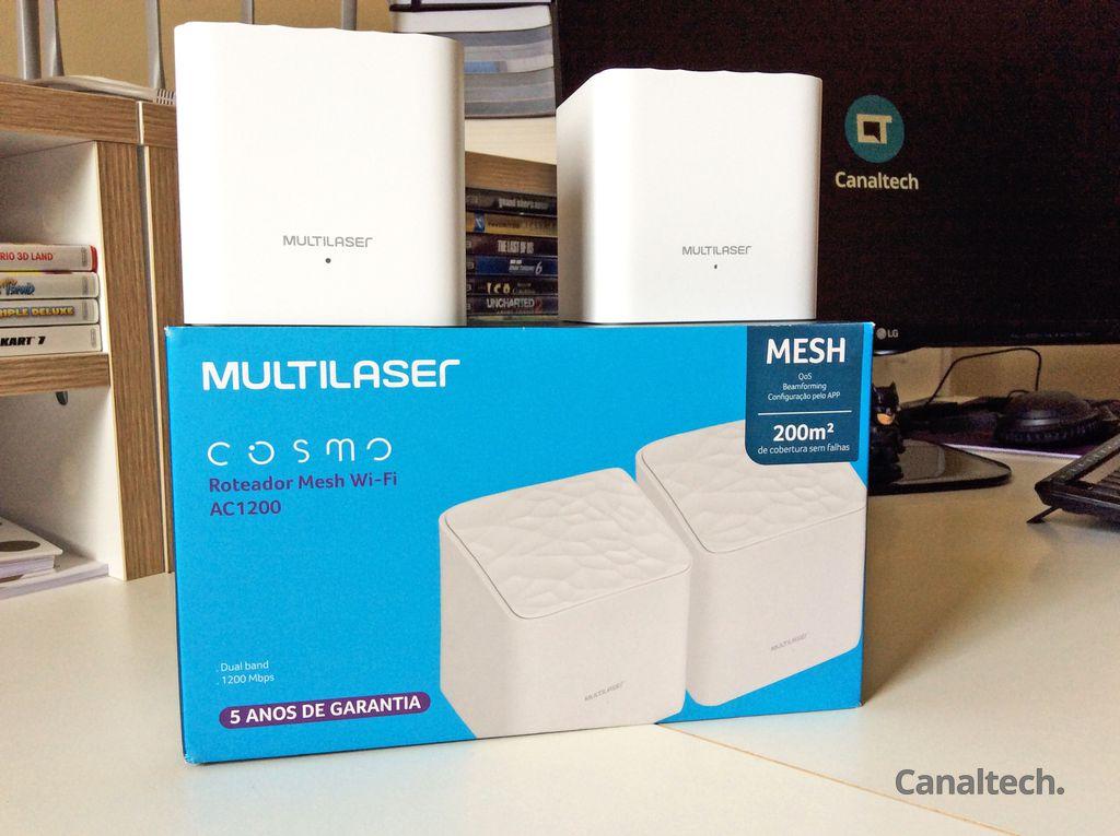 Kit da Multilaser traz duas unidades do Cosmo na mesma caixa. Promessa é de cobertura de até 200 metros quadrados