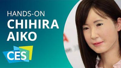Chihira Aiko: conheça o robô realístico e bizarro da Toshiba [Hands-on | CES 2015]