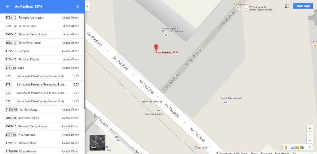google maps onibus