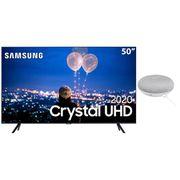 """Smart TV LED 50"""" UHD 4K Samsung 50TU8000 + Nest Mini (2ª geração): Smart Speaker com Google Assistente - Cinza"""