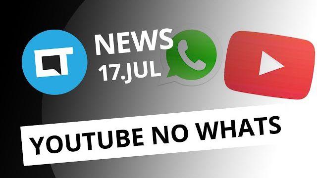 cfbdc4e1aaf58 Vídeos do YouTube dentro do WhatsApp  Dia do Emoji  Novo Atari e +  CT  News  - Vídeos - Canaltech