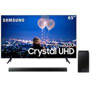 """Smart TV LED 65"""" UHD 4K Samsung 65TU8000 + Soundbar Samsung HW-T550 com 2.1 canais - 320W"""
