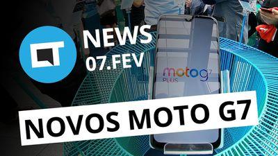Novos Moto G7 anunciados; Kindle Paperwhite à prova d'água no Brasil e+[CT News]