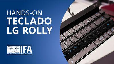 """LG Rolly: teclado dobrável Bluetooth ganha ar """"profissional"""" [Hands-on   IFA 201"""