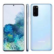 """Smartphone Samsung Galaxy S20 Azul 128GB, 8GB RAM, Tela Infinita de 6.2"""", Câmera Tripla Traseira, Câmera Frontal 10MP, IP68 e Leitor de Digital"""