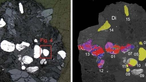 Mineral raro, encontrado só em meteoritos, foi identificado na Terra pela 1º vez