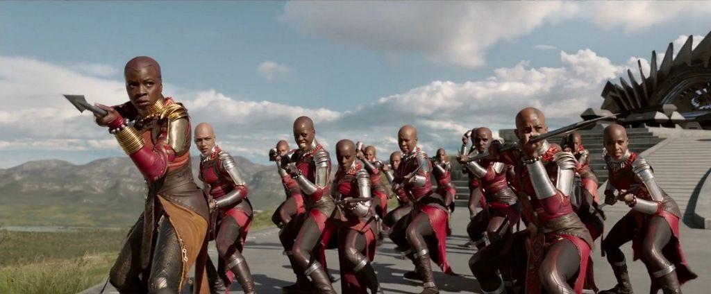 Exército de Wakanda, composto somente de mulheres carecas (Imagem: Marvel)
