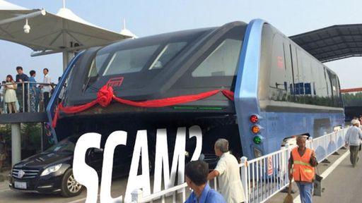 Projeto de ônibus elevado pode ser uma fraude, segundo imprensa chinesa