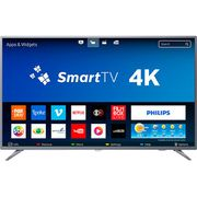 "Smart TV LED 50"" Philips 50PUG6513/78 Ultra HD 4k com Conversor Digital 3 HDMI 2 USB Wi-Fi 60hz - Prata [Cupom e cashback]"