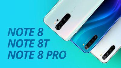 Redmi Note 8, 8T e 8 Pro: qual escolher?