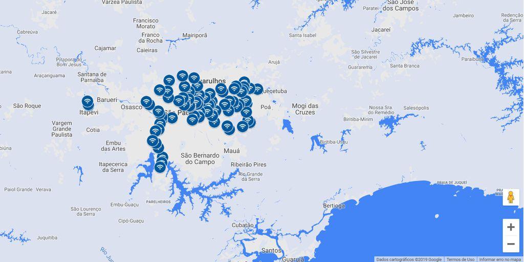 Localização dos hotspots já está disponível em um mapa na página do Google Station