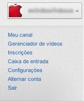 Menu YouTube Configurações