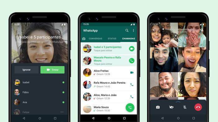 WhatsApp agora permite entrada em chamada de grupo já em andamento