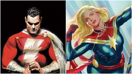 Por que dois personagens tinham o mesmo nome de Capitão Marvel?